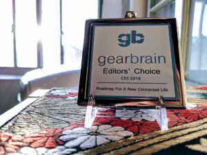 SEAM winning GearBrain's 2018 Editor's Choice Award for 'Most Innovative Wearable' at CES